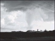 ?? MATTHEW CAPPUCCI/THE WASHINGTON POST ?? A tornado was seen near Lockett, Texas, in April. A report shows 73 tornadoes touched down in the U.S. last month.