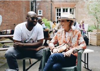 ??  ?? Jamal Sealey and Rahima Brandt, organisers of Norwich Free Market