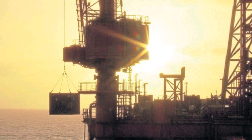 ??  ?? NEW DAY: Sunrise over Chrysaor's North Everest platform as the company filed pre-tax profits of £364.5 million last year