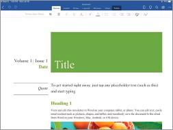 ??  ?? Microsoft Word on the ipad.
