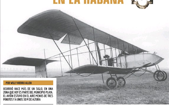 Resultado de imagen para El primer vuelo de un avión en La Habana