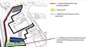 ??  ?? Exciting A bird's eye view of how the proposed RH Youth organisation base at Lockerbie could look