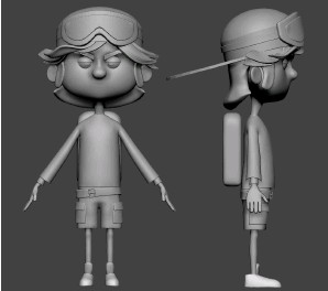 ??  ?? Sculpting cartoon characters Remember Dynamesh and Zremesher are your best friends! I like to combine very simple volumes, Dynamesh them and use Zremesher to get a cleaner result. 04