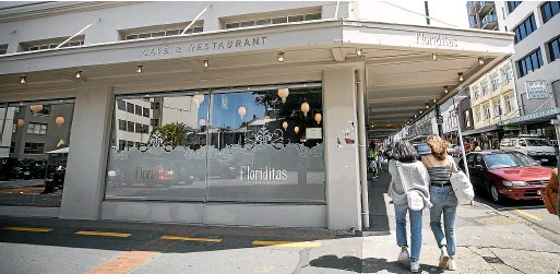 ??  ?? Julie Clark and her husband James Pedersen opened Floriditas on Cuba St in the capital, 15 years ago.