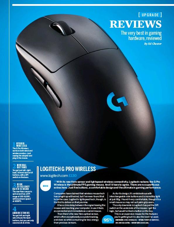 Pressreader Pc Gamer Uk 2018 10 18 Logitech G Pro Wireless