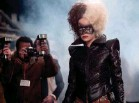 ?? PROVIDED BY LAURIE SPARHAM ?? Cruella (Emma Stone) crashes an event in a leather jumpsuit with tire-tread shoulders.