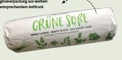 ??  ?? Kräuter aus der Region Frankfurt kommen in einer Originalverpackung aus weißem Papier mit entsprechendem Aufdruck