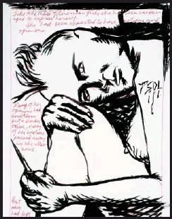 ??  ?? Raymond Pettibon, Untitled , (Like the Mass), 1987.