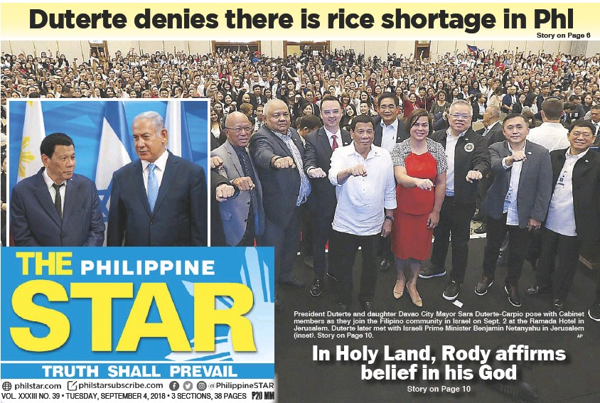 Pressreader The Philippine Star 2018 09 04 In Holy Land Rody