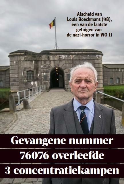?? FOTO KAREL HEMERIJCKX ?? Louis Boeckmans werd onder meer vastgehouden in het Fort van Breendonk.