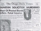 ?? IMAGE: ODT FILES ?? The Otago Daily Times' coverage of the letter bombing which killed Dunedin solicitor J. P. Ward on this day in 1962.