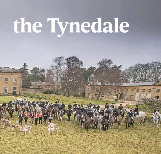 ??  ?? The Tynedale meet at Belsay Hall, Northumberland, hosted by Laura de Wesselow