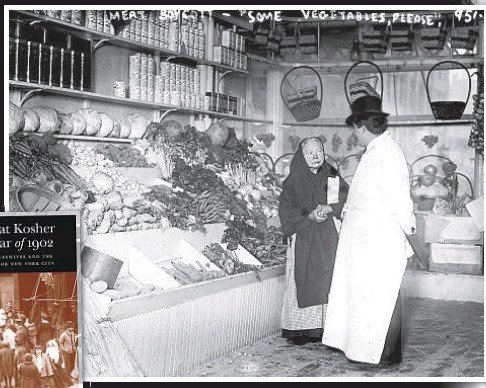 ??  ?? When the price of kosher meat skyrocketed in 1902, the impoverished women of the Lower East Side were mad as hell and wouldn't take it anymore, turning to vegetables (above) and boycotting butcher shops (main photo opposite page). The sometimes violent battle reverberated in both the English (far right top) and Yiddish (far right bottom) press.
