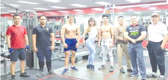 ??  ?? Joannes (third right) with some of the state bodybuilding athletes.