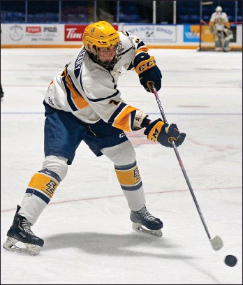 ?? STEVEN MAH/SOUTHWEST BOOSTER FILE PHOTO ?? Swift Current's Ryan Mccleary was selected by the Pittsburgh Penguins in the 2021 NHL Draft.