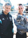 ??  ?? TOURIST: Jose Mourinho meets a koala in Sydney.