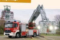 ??  ?? Die neuen Drehleitern hat die Feuerwehr über 10 Jahre bei Magirus geleast. Die Bochumer sind damit der erste Leasingkunde des Ulmer Unternehmens. Anders wäre die Beschaffung von vier Fahrzeugen in einem Haushaltsjahr nicht finanzierbar gewesen, heißt es in der Ruhrmetropole.