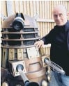 ??  ?? Barnaby Edwards with a Dalek from Doctor Who