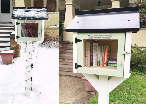 ??  ?? The completed Little Green Library on Green.