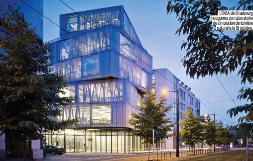 ??  ?? L'ENSA de Strasbourg inaugurera son laboratoire de simulation de lumière naturelle le 18 octobre.