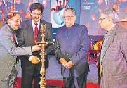 ?? PHOTO: HTCS ?? CLICKED: VSK Sood, Sandeep Marwah, KM Seth and DLN Shastri