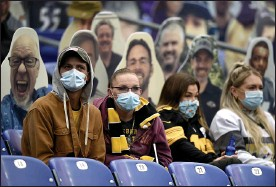 ?? GAIL BURTON — THE ASSOCIATED PRESS ?? Spectators look on during a Nov. 1 game between the Ravens and the Steelers in Baltimore.