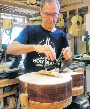 """??  ?? Marc Saumier will be at the Vancouver International Guitar Festival, which runs Aug. 11-12 at Creekside Community Centre, where he will try to bring together both musicians and collectors with his """"local wood challenge."""""""