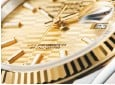 ??  ?? Close-up on the Oyster Perpetual Datejust 36 dial