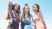 ?? CHARLES DENNINGTON ?? Elandrah Eramiha, Akina Edmonds and Chloe Zuel