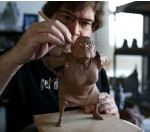 ??  ?? Right, top: Pixar artist Greg Dyk­stra work­ing on a clay sculp­ture dur­ing pro­duc­tion on