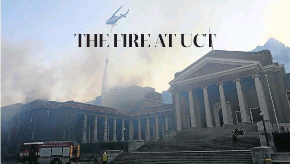 ?? Picture: Ruvan Boshoff ?? Buildings on UCT's main campus — relatively far from the 'fire front' on Table Mountain — nonetheless caught fire. Local research into why this happened is urgently needed, says the writer.