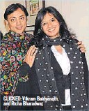 ??  ?? CLICKED: Vikram Baidyanath and Richa Bharadwaj