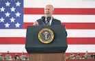 ?? PATRICK SEMANSKY/ AP ?? President Joe Biden speaks to U. S. troops at a station in England on Wednesday.
