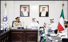 ?? KUNA photo ?? Head of the delegation of the Islamic Military Coalition to Combat Terrorism Center, Major General Pilot Muhammad Al-Moghidi, during his visit to the Kuwait Anti-Corruption Authority (Nazaha).