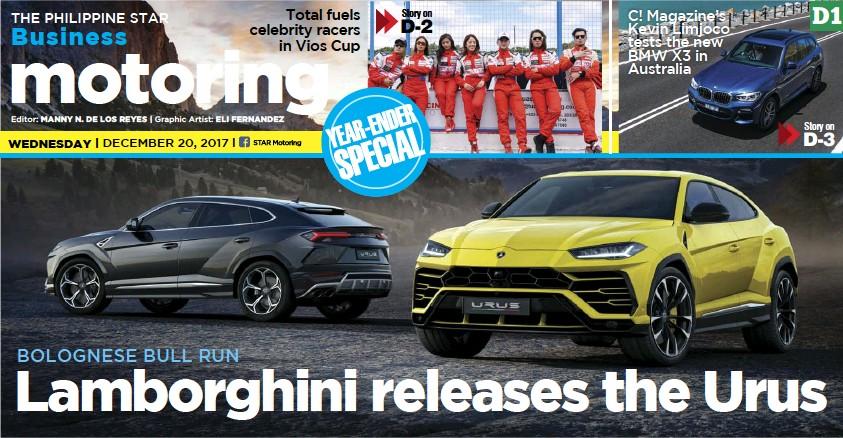 Pressreader The Philippine Star 2017 12 20 Lamborghini Releases