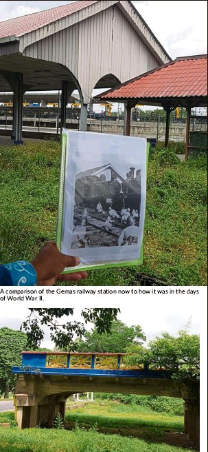 ??  ?? a com­par­i­son of the Ge­mas rail­way sta­tion now to how it was in the days of World War II.