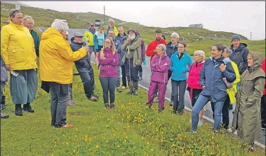 ??  ?? Mary Schmoller talking about placenames during the Eriskay placenames book launch.