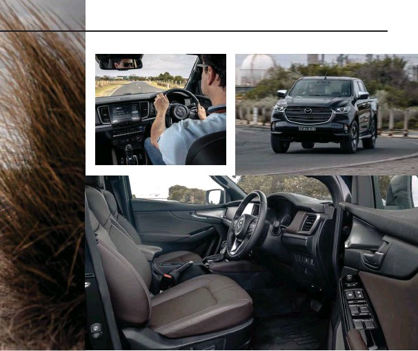 ??  ?? The BT-50's driving position is very good and remains comfortable on extended drives. The seat has plenty of electric adjustment and the steering wheel tilts and telescopes