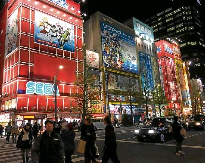 ??  ?? Gadgets, games and more in Akihabara, Tokyo's Electric Town