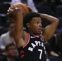 ?? STEVE RUSSELL/TORONTO STAR ?? The Raptors are not giving a timeline for the return of Kyle Lowry, who bruised his tailbone in a nasty fall Monday.