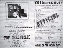 ?? GREG SORBER/JOURNAL ?? Bobby Box broke into the Albuquerque radio market in 1969 at KQEO. This flier announces his arrival at the station.