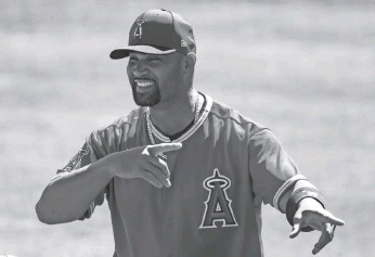 """?? MARK J. REBILAS/USA TODAY SPORTS ?? Albert Pujols on his preference of NL play or AL play: """"I've missed the action in the National League and the strategy. But I enjoy the DH."""""""