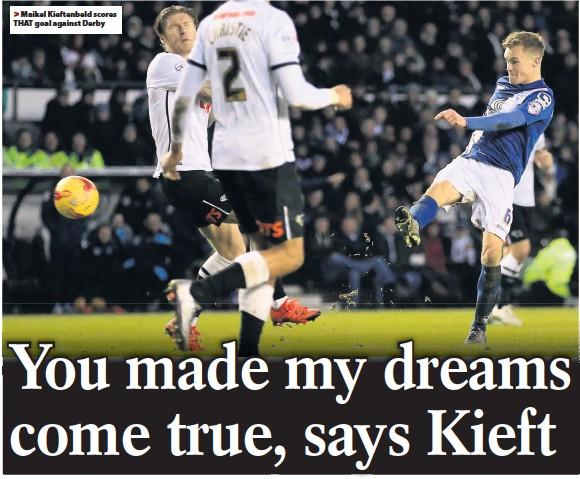 ??  ?? Maikel Kieftenbeld scores THAT goal against Derby