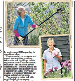 ??  ?? i Helen ready: on hand with advice for all, be it pruning, clipping, watering, digging or your more idiosyncratic garden issues