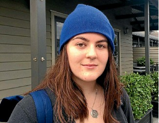 ?? PHOTOS: AMANDA CROPP/STUFF ?? Australian backpacker Katie Brennan has visited Christchurch's ReStart Mall and white chair memorial, but said the city lacked things for young people to do.