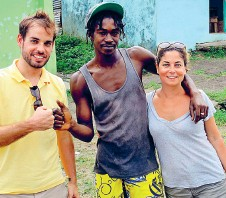 ??  ?? The Suskis in Saint Lucia in 2013, with the farmer who found them near the village of La Bourne
