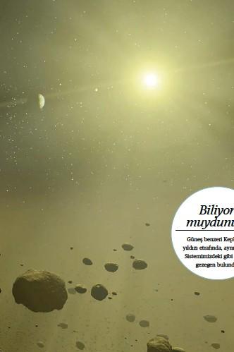 ??  ?? Solda: Güneş Sistemi'ne benzer yaştaki varsayımsal bir sistemin sanatçı tasarımı görüntüsü