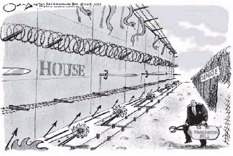 ??  ?? JACK OHMAN IS EDITORIAL CARTOONIST FOR THE SACRAMENTO BEE.