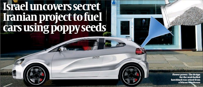 ?? PHOTOS: GETTY IMAGES ?? Flower power: The design for the seed-fuelled hatchback was seized from a Tehran warehouse