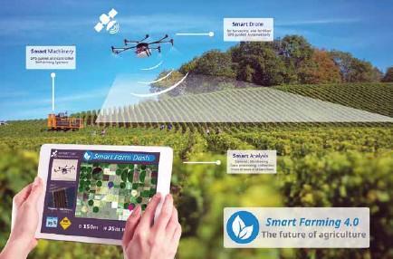??  ?? La Agricultura 4.0 permite que mediante una plataforma se combinen datos e imágenes de satélite en tiempo real para que el agricultor pueda tomar las mejores decisiones.